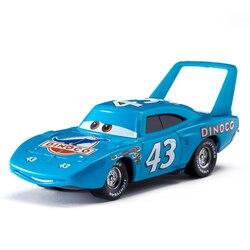 Samochody samochody Disney Pixar 3 rolę króla błyskawica McQueen Cruz Jackson burza Mater odlewane modele ze stopu metalu Model samochodu zabawki dla dzieci prezent