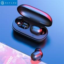 Haylouバイノーラルhd通話twsワイヤレスイヤホンhuawei社xiaomi ios、BT5.0 グレートサウンドワイヤレスbluetoothヘッドフォン