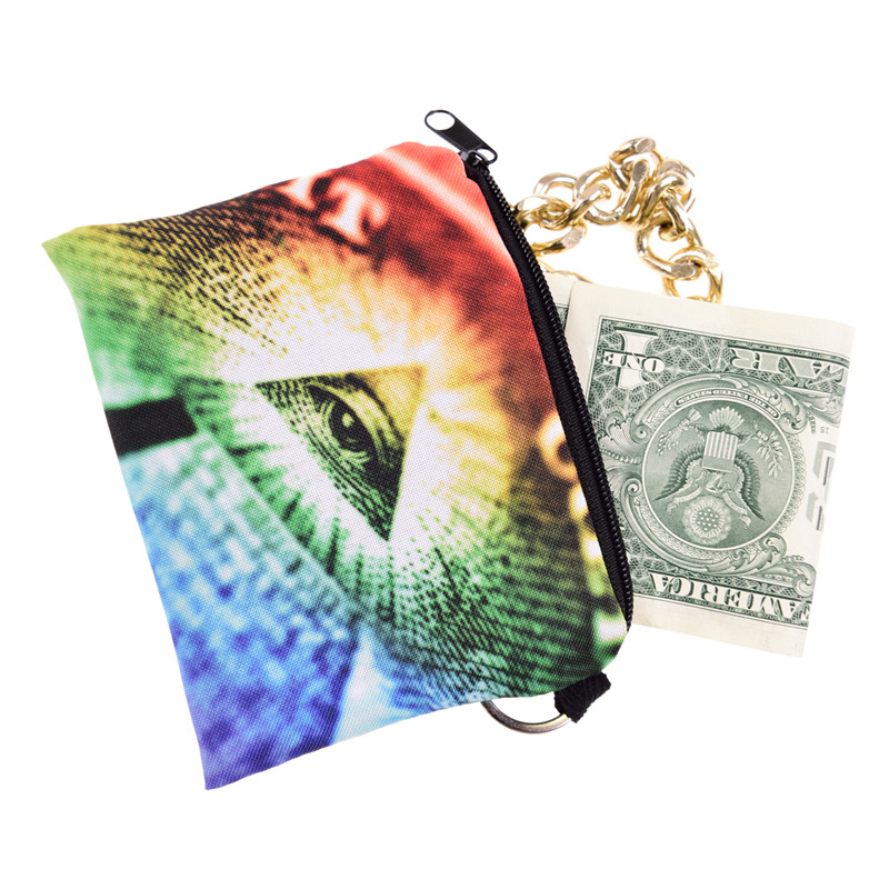 Zohra Rainbow Light Note Illuminati Pattern Square Purse Europe And America Cute Children's Bags