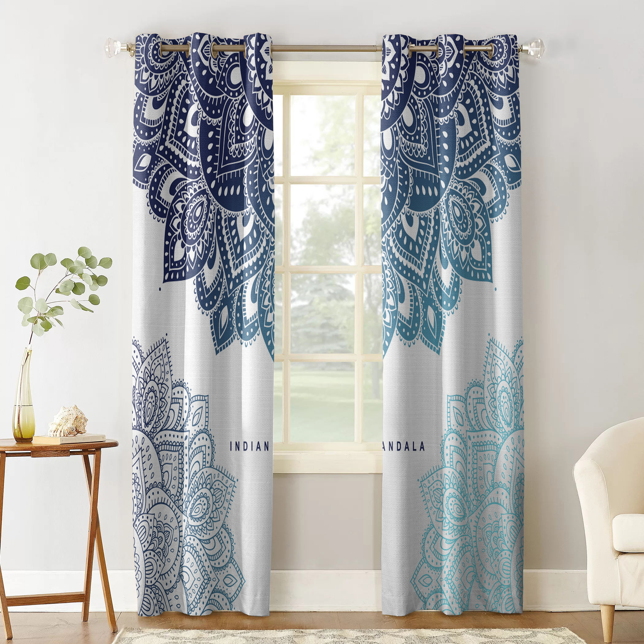 Mega Discount 5080 Indian Mandala Abstract Curtains For Living Room Children Bedroom Decoration Home And Kitchen Products Windows Drapes Cicig Co