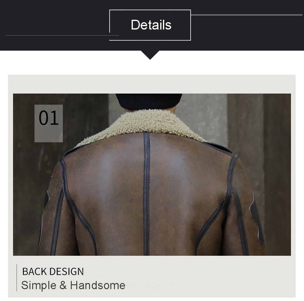 H1e19131132b7416486a665cb549b20d6f 2019 Fashion 100% Quality Real Sheepskin Fur Men Coat Genuine Full Pelt Sheep Shearling Male Winter Jacket Brown Men Fur Outwear