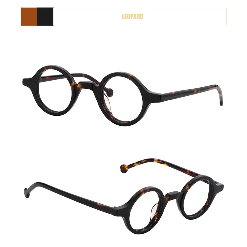 Image 2 - Acetate Round Fashion Glasses Men Harry Retro Glasses Frames Fake Glasses with Clear Lens Women Optical Spectacle FrameWomens Eyewear Frames   -