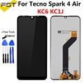 Ремонтный экран 6,1 дюйма для Tecno Spark 4 AIR KC6 KC1J, ЖК-дисплей, цифровой преобразователь экрана в сборе для Tecno Spark4 Air, ЖК-датчик
