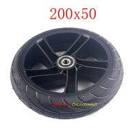 Neumático sólido delantero y trasero para patinete eléctrico Xiaomi Ninebot ES1 ES2, Kickscooter de 8 pulgadas, 200x50, neumático no neumático
