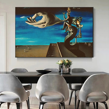 Surrealism Canvas Painting The Hand By Salvador Dali Famous Poster Print Wall Art Picture for Living Room Home Wall Decor Cuadro 2