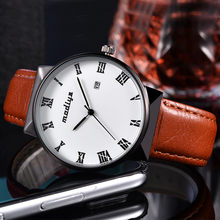 Blaus Masculino Jam Tangan Pria Fashion Tahan Air Montre Leather Band Watch Reloj Hombre Kuarsa Analog Sex Kol Saati Jam Tangan(China)