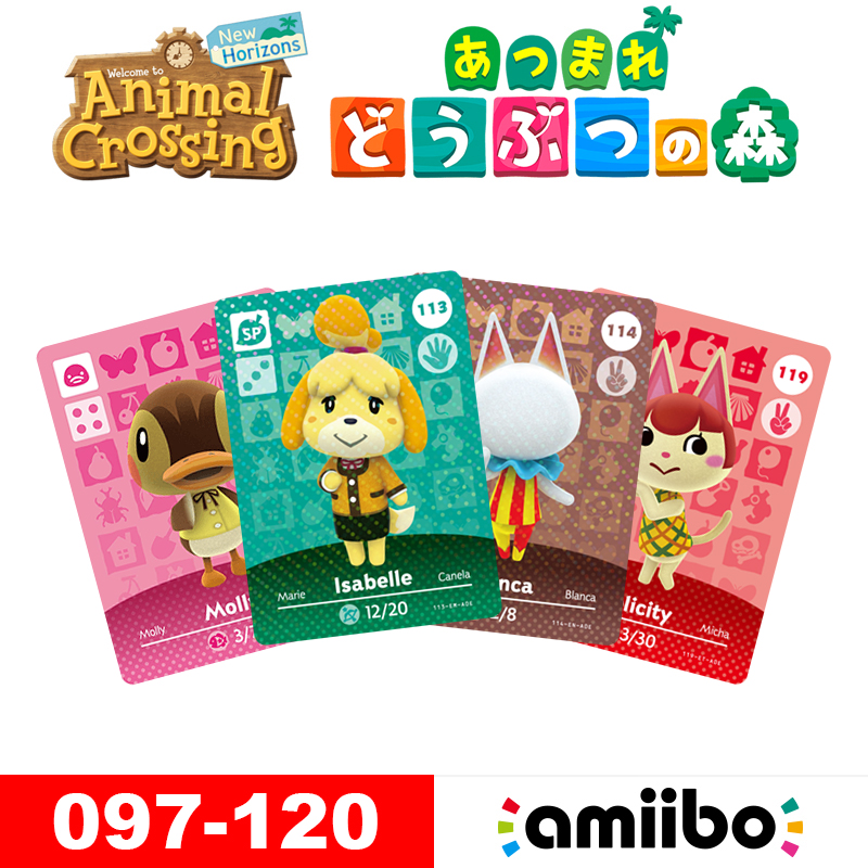Animal Crossing New Horizons Amiibo Cards For NS Switch 3DS Game Animal Crossing Villager Blanca Card Series 1 & 2 (097 To 120)
