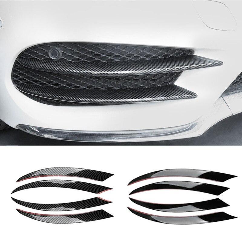 Стильная передняя противотуманная фара из углеродного волокна, решетка радиатора, декоративная крышка, отделочные полосы для Mercedes Benz C Class ...