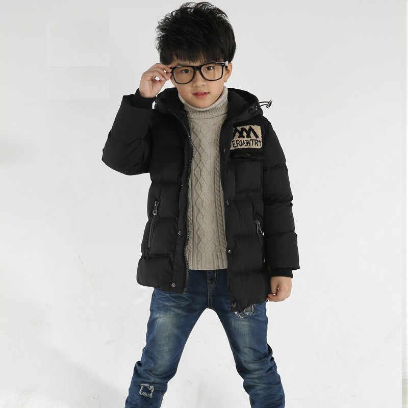Winter Kinder Jacken Jungen Mädchen unten mantel für 3-12 jahre Mode Baby Warmen Mantel Kinder mit kapuze Mäntel für jungen