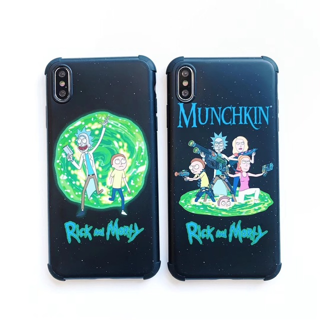 RINCK AND MORTY THEMED IPHONE CASE (6 VARIAN)
