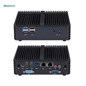 Qotom Quad core Mini PC with Celeron J3160/N3160 processor onboard, up to 2.24 GHz, Fanless Mini PC Dual NIC