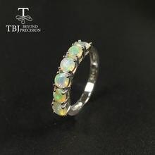 Женское кольцо с натуральным опалом маленькое круглым 4 мм ювелирные