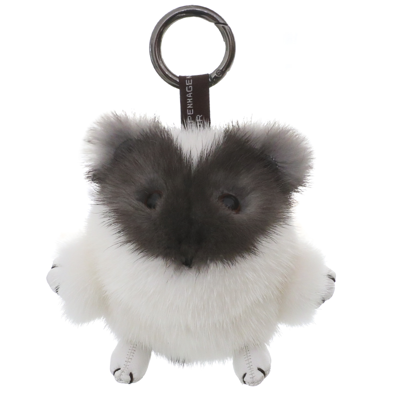 Mink fur hamster doll pendant Super cute doll bag pendant key chain