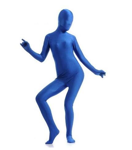 New 2017 Zentai Full Suit <font><b>Sexy</b></font> Lycra Spandex Blinded Long Sleeve Bodysuit Jumpsuit Women <font><b>Men</b></font> Catsuit <font><b>Halloween</b></font> Zentai <font><b>Costume</b></font> image