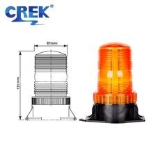 "CREK 3"" Red Signal Strobe 60V School Bus LED Flashing Beacon Emergency Light For Sweep Car Construction Vehicles Machine Tool"