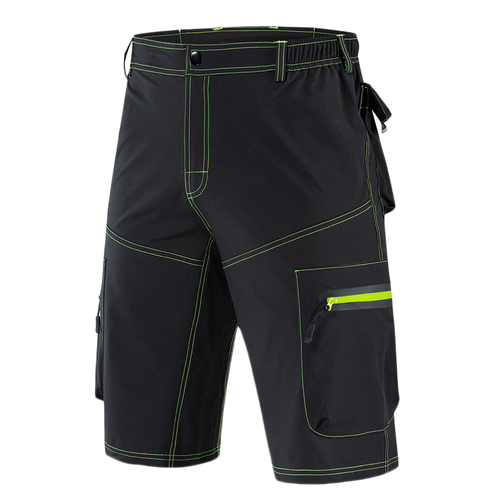Sports Men's Mountain Bike Biking Cycling Shorts MTB Shorts Loose Fit Cycling Half Pants With Zip Pockets -M-XXXL