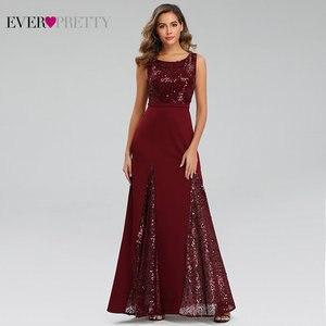 Image 1 - Sexy Meerjungfrau Abendkleider Lange Immer Ziemlich Pailletten V ausschnitt Side Split Sleeveless Sparkle Formale Party Kleider Abendkleider 2020