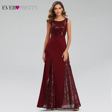 Sexy Mermaid Evening Dresses Long Ever Pretty Sequined V Neck Side Split Sleeveless Sparkle Formal Party Gowns Abendkleider 2020