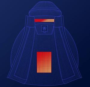 Image 5 - Xiaomi nowa zimowa kurtka puchowa inteligentna regulacja temperatury kurtka gęsia odzież puchowa może być prana