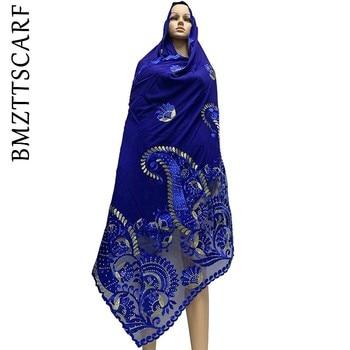 High Quality African Women Scarfs Soft Chiffon Scarf Splice with Net Heavy Chiffon Scarfs for pray scarfs BM771 цена 2017