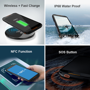 Image 3 - HOMTOM HT80 Android 10 IP68 Waterproof LTE 4G Mobile phone 5.5 inch 18:9 HD+ MT6737 Quad Core NFC Wireless charge SOS Smartphone
