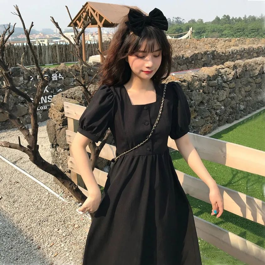 Japanese academy summer sweet lovely dress suitable for outdoor outing dress girlfriend Harajuku retro Princess Dress