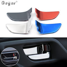 4pcs For Subaru Xv Impreza STI 2015 2016 2017 Forester Outback Legacy 2018 Car interior Door Handle Bowl Cover Patch Sticker(China)