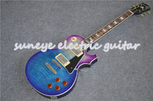 цена на Suneye Purple Blue Standard Electric Guitar Chrome Hardware Guitarra Electrica Custom DIY Guitar Kit Available