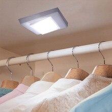 Настенный светильник светодиодный светильник 3 Вт COB светодиодный настенный светильник настенный выключатель беспроводной шкаф беспроводной Ночной светильник на батарейках