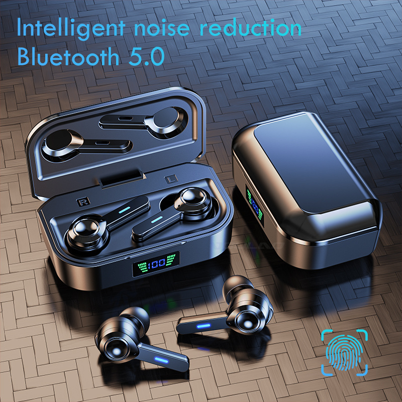 VOULAO Bluetooth 5.0 Earphone Touch Control Earbuds Wireless Headphone IPX6 Waterproof Headsets With Micrphones Noise Canceling