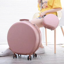 20inch carry on travel suitcase set cabin rolling luggage bag Trolley suitcase case Women girls kids rounded Luggage set wheels(China)