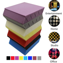 12/Pack Panels Acoustic Soundproof for Home Theatre Music-Room 25x5cm Wedge Foam-Studio