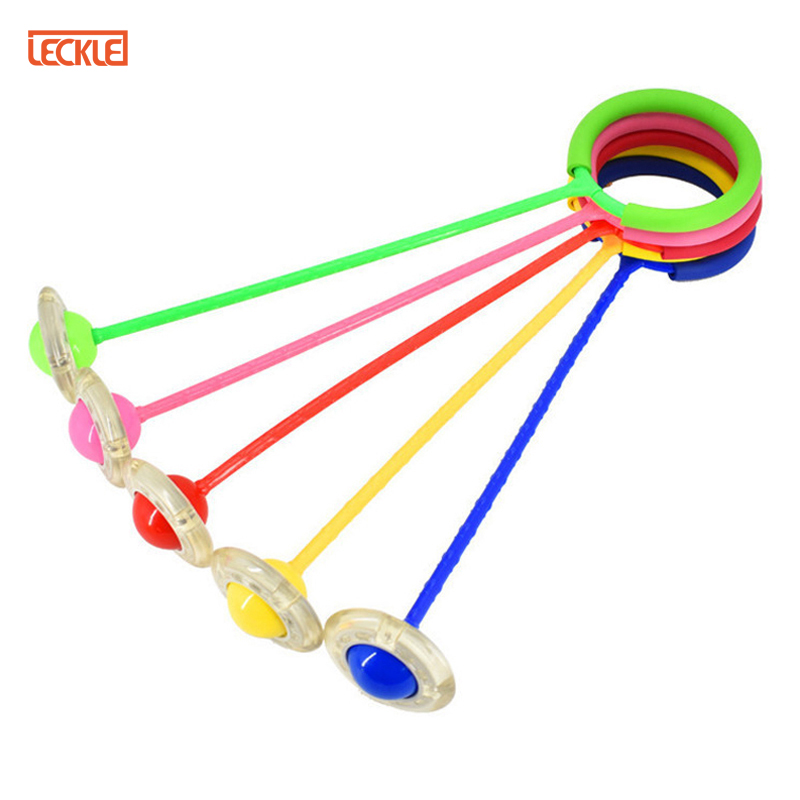 скакалка Glowing Bouncing Balls One Foot Flashing Skip Ball Jump Ropes Sports Children Fitness Playing Fun Entertainment Toys