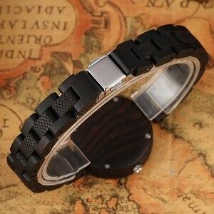 Image 4 - Relógios femininos de madeira simples reloj mujer miyota movimento de quartzo fino pulseira de madeira completa senhoras relógio de pulso personalizado presentes superiores