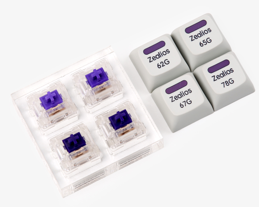 Purple Zealio Switches switch <font><b>tester</b></font> 62g 65g 67g 78g OEM DSA cherry profile keycap for mechaniacl <font><b>keyboard</b></font> image