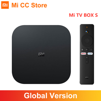 Global Version Xiaomi Mi TV Box S 4K Ultra HD Android TV 9.0 HDR 2GB 8GB WiFi Google Cast Netflix Smart TV Mi Box 4 Media Player