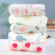 110*110cm Muslin Swaddle Baby Blankets Swaddling 100% Cotton Swaddle Wrap Newborn Babies 6 Layer Bath Towel Kids  Soft Blanket 3 style new blankets cute muslin baby swaddling blanket newborn baby swaddle wrap infant soft swaddle towel for girls and boys