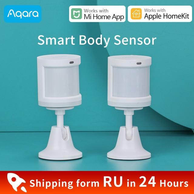 Aqara人体センサーxiaomiスマートホームボディモーションセンサーzigbee無線接続miホームアプリで動作