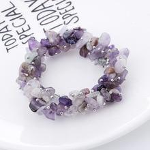 Модные корейские популярные ювелирные изделия браслет из натурального камня женский браслет многослойный магнитный браслет с пряжкой