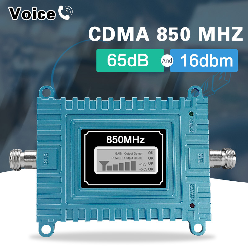Israel India Jio 2g 3g Signal Amplifier GSM 3G UMTS 850 70dB Mobile Phone Single Booster 3g Signal Repeater 850mhz