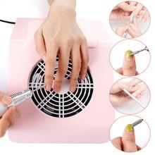 Ventilador recolector de polvo para uñas, aspirador de uñas potente de 40W con 2 bolsas de recogida de polvo, herramienta para salón de manicura