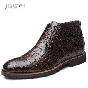 Image 5 - Homens botas de couro grande Size38 48 laço acima botas de cowboy homem sapatos masculinos à prova de água botas novas sapatos de plataforma botines hombre