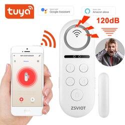 Tuya Door sensor Build-in buzzle wireless Magnetic window detector Magnet switch open alarm smart life AlexaGoogle