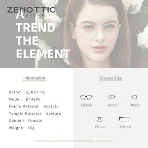 Image 4 - ZENOTTIC Retro Acetate Round Glasses Frame Women Transparent Optical Myopia Spectacles Vintage Ultralight Prescritpion Eyewear