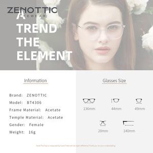 Image 4 - ZENOTTIC Ретро ацетатные круглые очки в оправе женские прозрачные оптические очки для близорукости винтажные ультралегкие очки