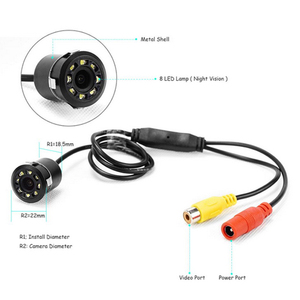 Image 4 - Podofo Car Rear View Camera Universal Backup Parking Camera 4/8/12 LED 8IR Night Vision Waterproof 170 Wide Angle HD Color Image