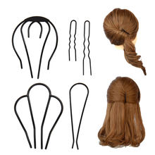 Goody Sturdy and durable u shaped hair pins hair combs clips up do hairstyle women girls Tie up accessories ornament(China)