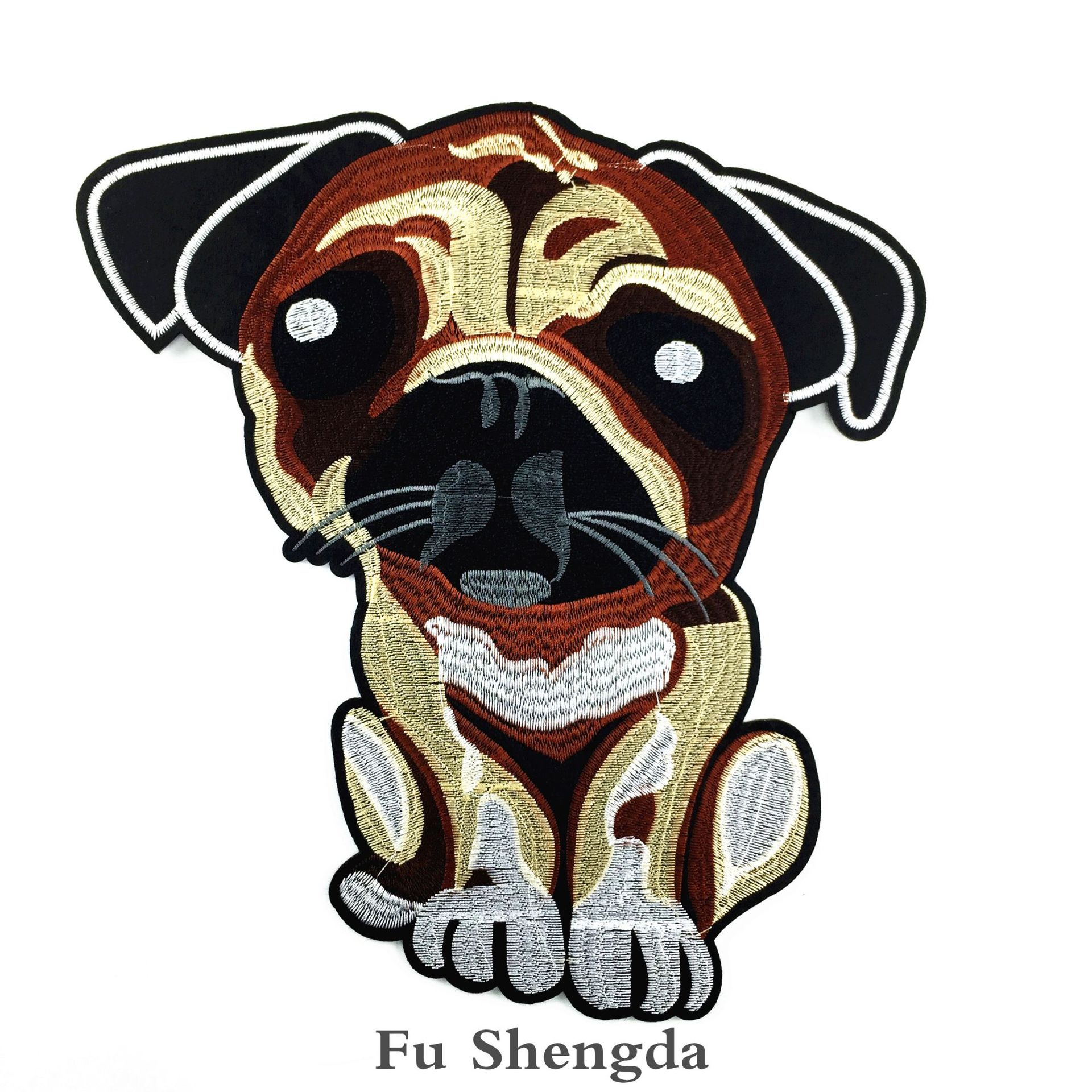 1PCs New 3D Craft Sewing Embroidered Iron On Applique Patch Dog DIY Clothes Accessories It Can Be Used In Jeans And T-shirt DIY