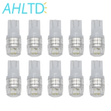 10X Auto Led T10 W5w White 194 168 Parking Bulb Wedge Turn Signal Corner Tail Lamp Side Marker Backup Light DC 12v