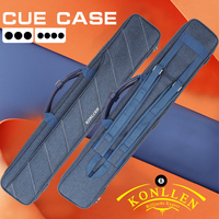 KONLLEN 7 Holes Cue Case 3 Butts 4 Shafts Blue High Capacity Oxford Canvas Bag Two Types of Carry Sturdy and Wear-resistant Case